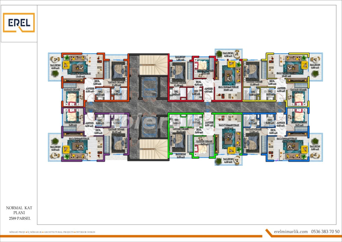 Элитные апартаменты в Махмутларе, Алания в комплексе гостиничного типа - 39629 | Tolerance Homes
