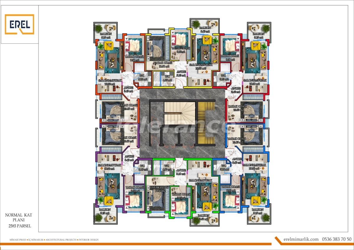 Элитные апартаменты в Махмутларе, Алания в комплексе гостиничного типа - 39626 | Tolerance Homes