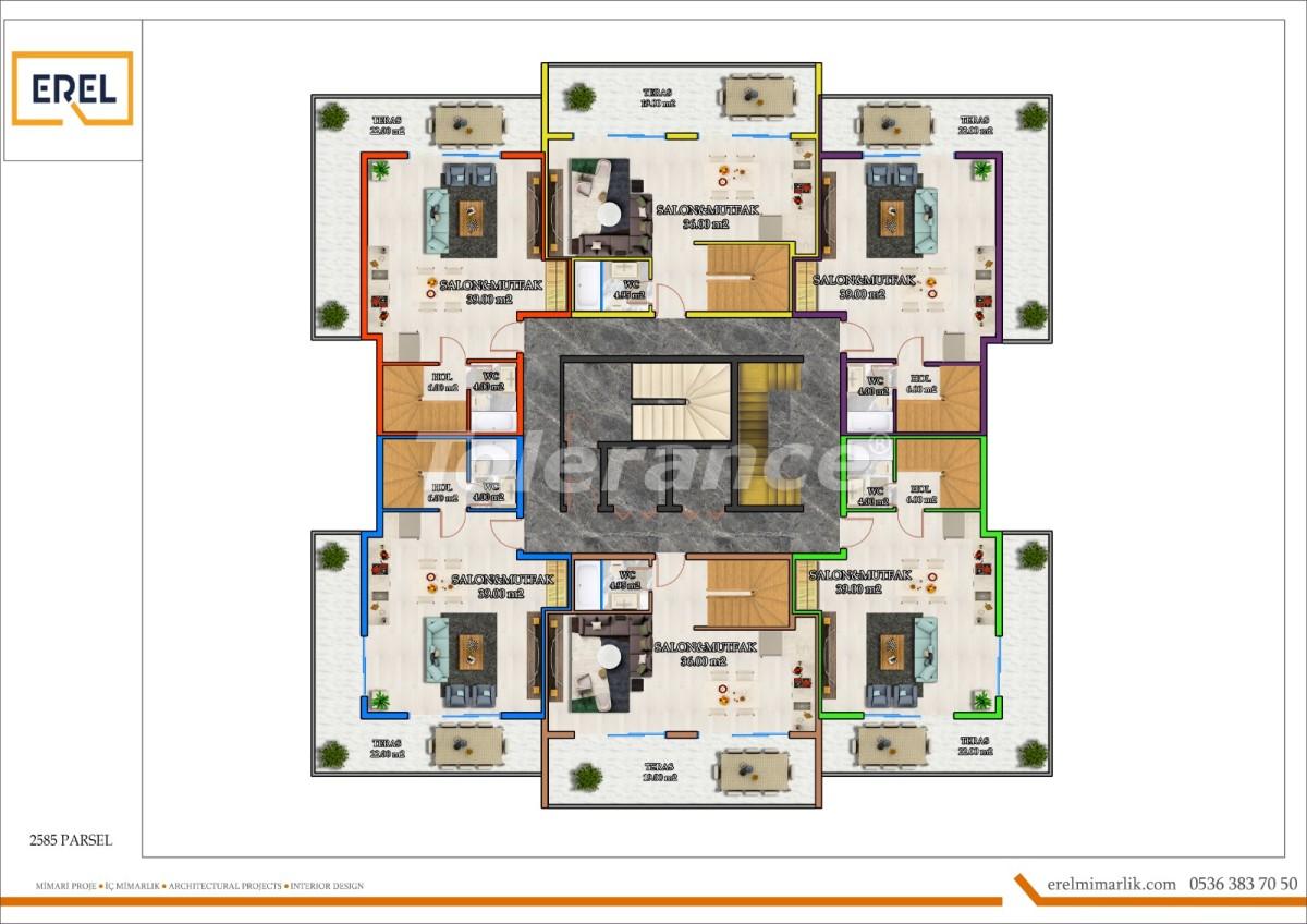 Элитные апартаменты в Махмутларе, Алания в комплексе гостиничного типа - 39627 | Tolerance Homes