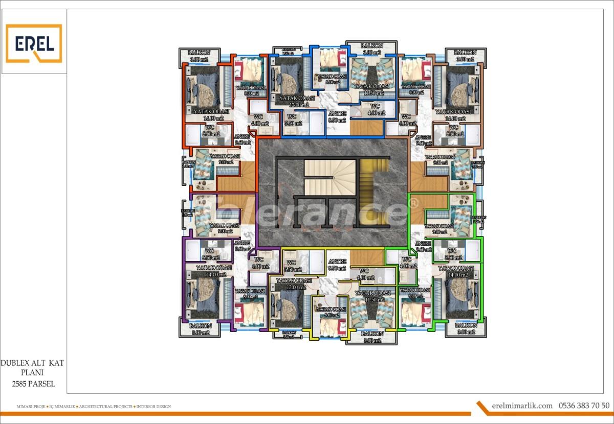 Элитные апартаменты в Махмутларе, Алания в комплексе гостиничного типа - 39628 | Tolerance Homes