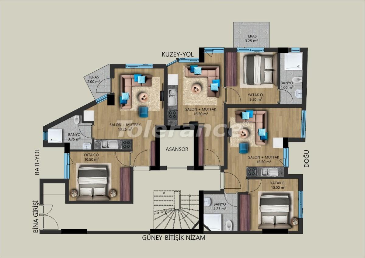 Современные квартиры в Муратпаша, Анталия от застройщика - 40027 | Tolerance Homes