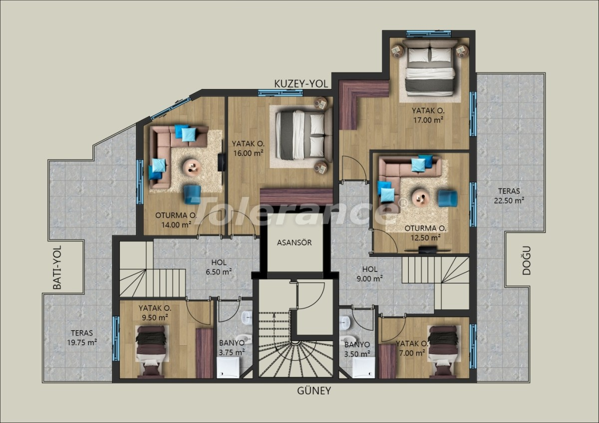 Современные квартиры в Муратпаша, Анталия от застройщика - 40028 | Tolerance Homes