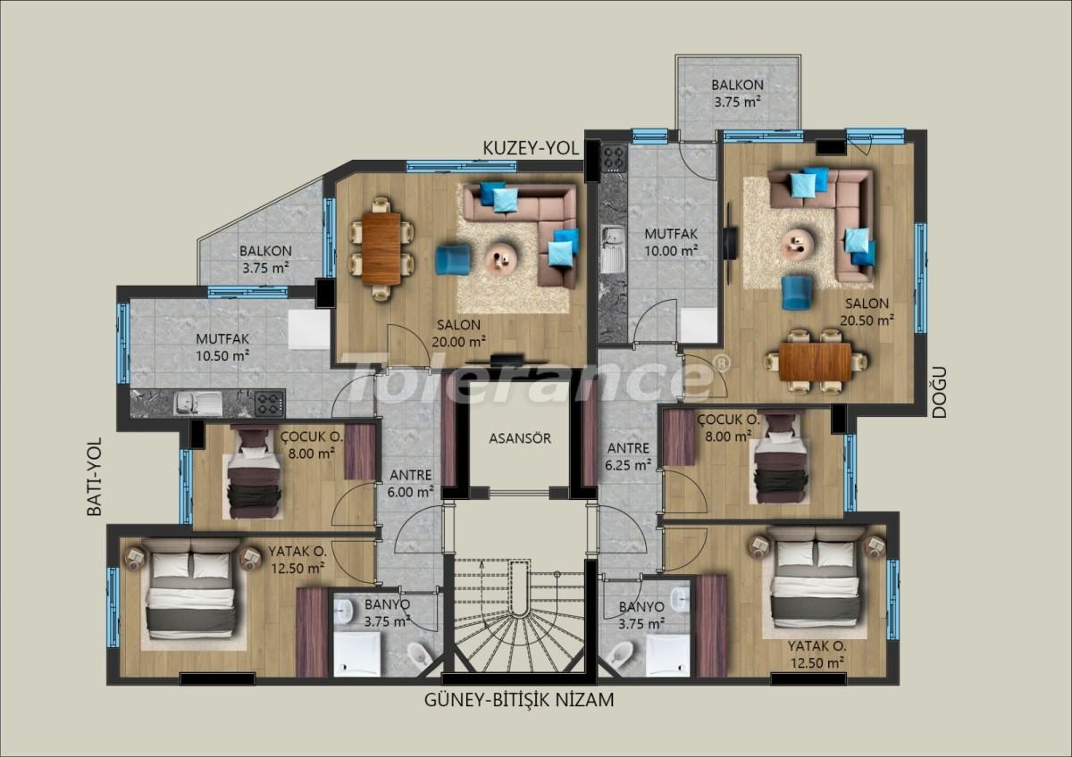 Современные квартиры в Муратпаша, Анталия от застройщика - 40026 | Tolerance Homes