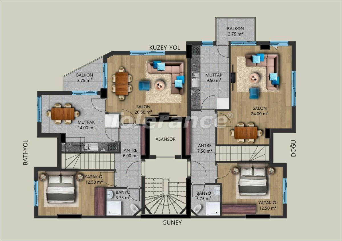 Современные квартиры в Муратпаша, Анталия от застройщика - 40029 | Tolerance Homes
