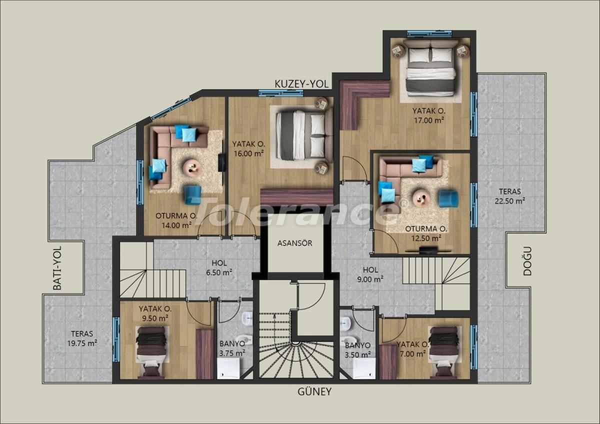 Современные квартиры в Муратпаша, Анталия от застройщика - 40028   Tolerance Homes