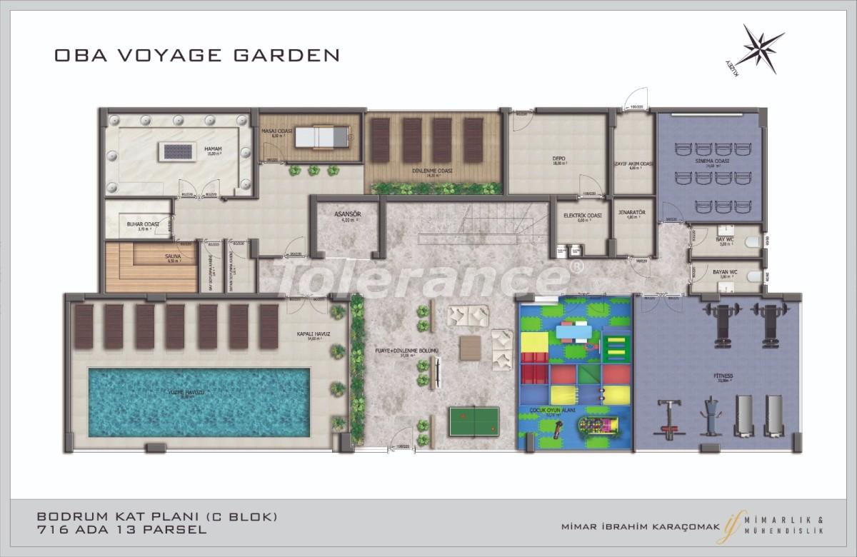 Современные апартаменты в Оба, Алания в комплексе гостиничного типа - 40091   Tolerance Homes