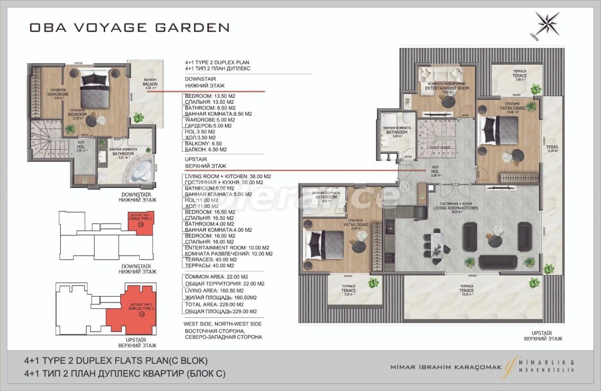 Современные апартаменты в Оба, Алания в комплексе гостиничного типа - 40090   Tolerance Homes