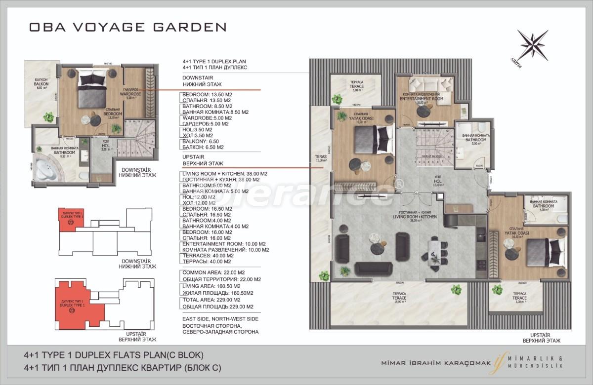 Современные апартаменты в Оба, Алания в комплексе гостиничного типа - 40089   Tolerance Homes