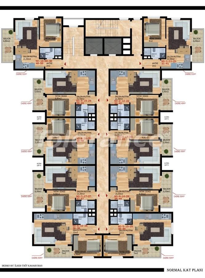 Современные апартаменты в Газипаше от застройщика - 40212   Tolerance Homes