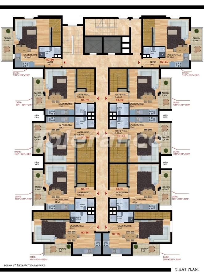 Современные апартаменты в Газипаше от застройщика - 40210   Tolerance Homes