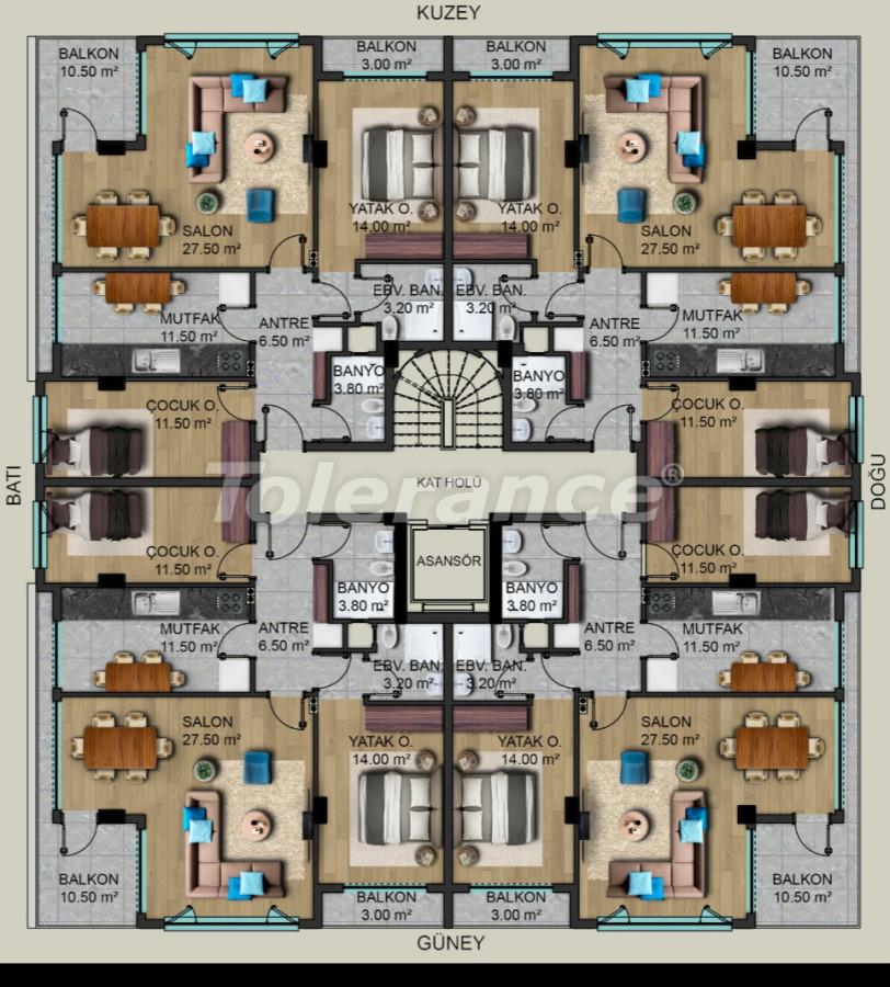 Шикарные современные квартиры в Муратпаша, Анталия от застройщика - 40499   Tolerance Homes