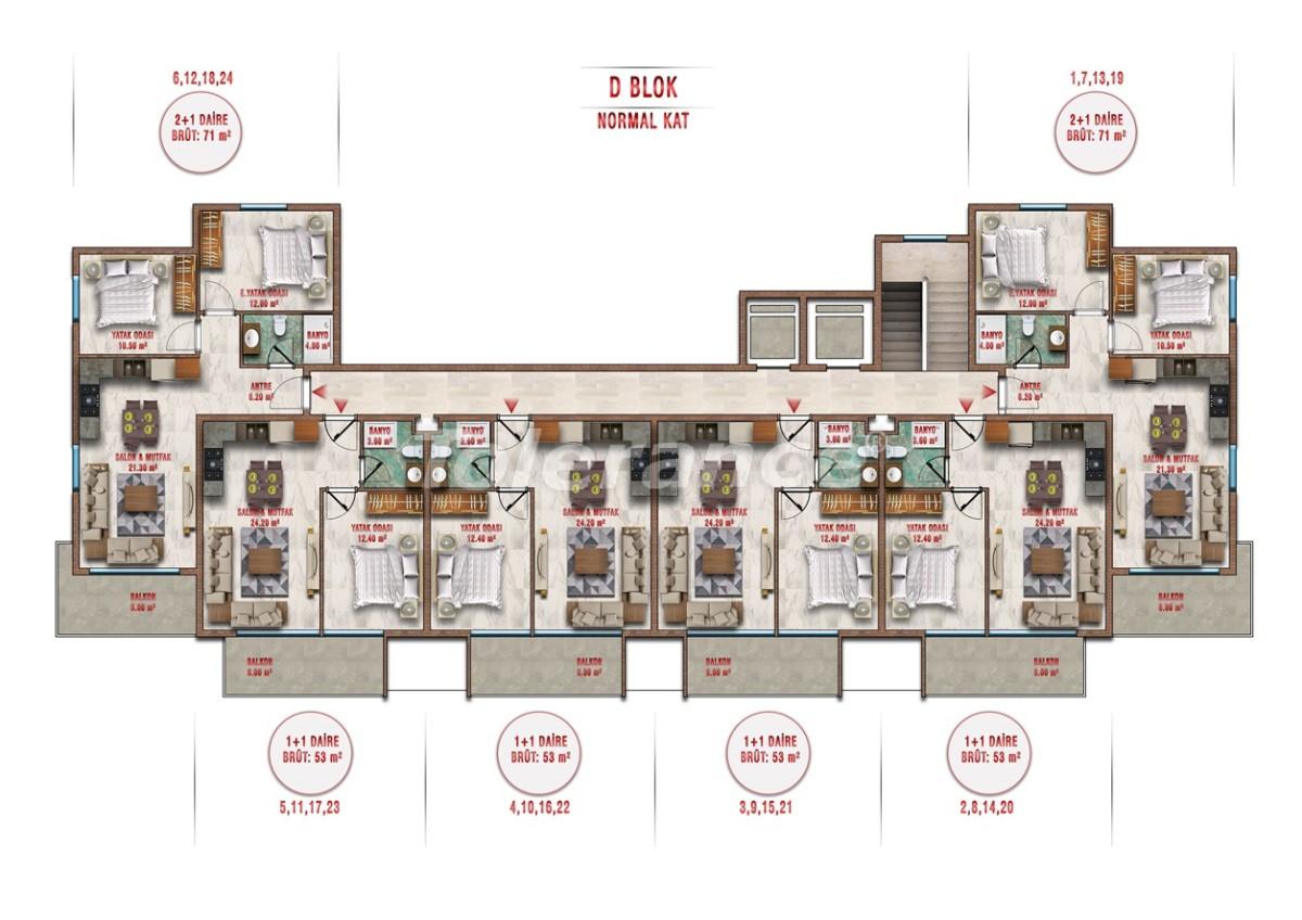 Квартиры в Авсалларе, Алания выгодны для инвестиций с рассрочкой платежа - 40713 | Tolerance Homes