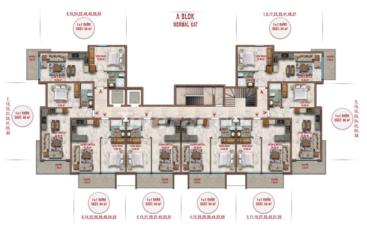 Квартиры в Авсалларе, Алания выгодны для инвестиций с рассрочкой платежа - 40703 | Tolerance Homes