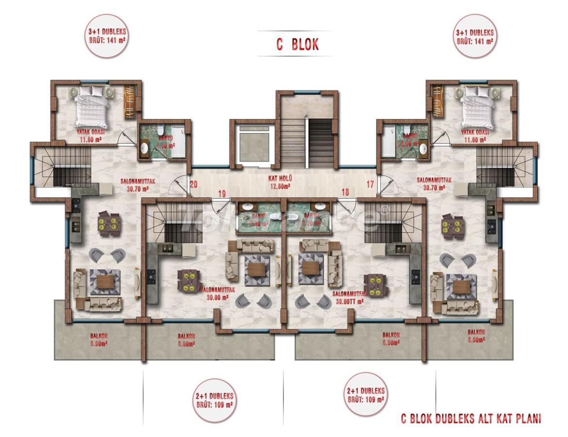 Квартиры в Авсалларе, Алания выгодны для инвестиций с рассрочкой платежа - 40707 | Tolerance Homes