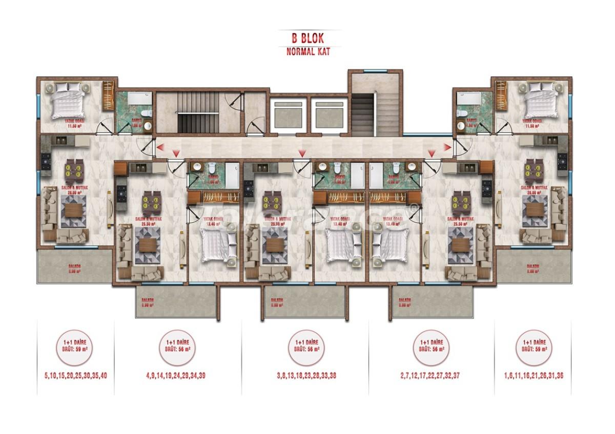 Квартиры в Авсалларе, Алания выгодны для инвестиций с рассрочкой платежа - 40706 | Tolerance Homes