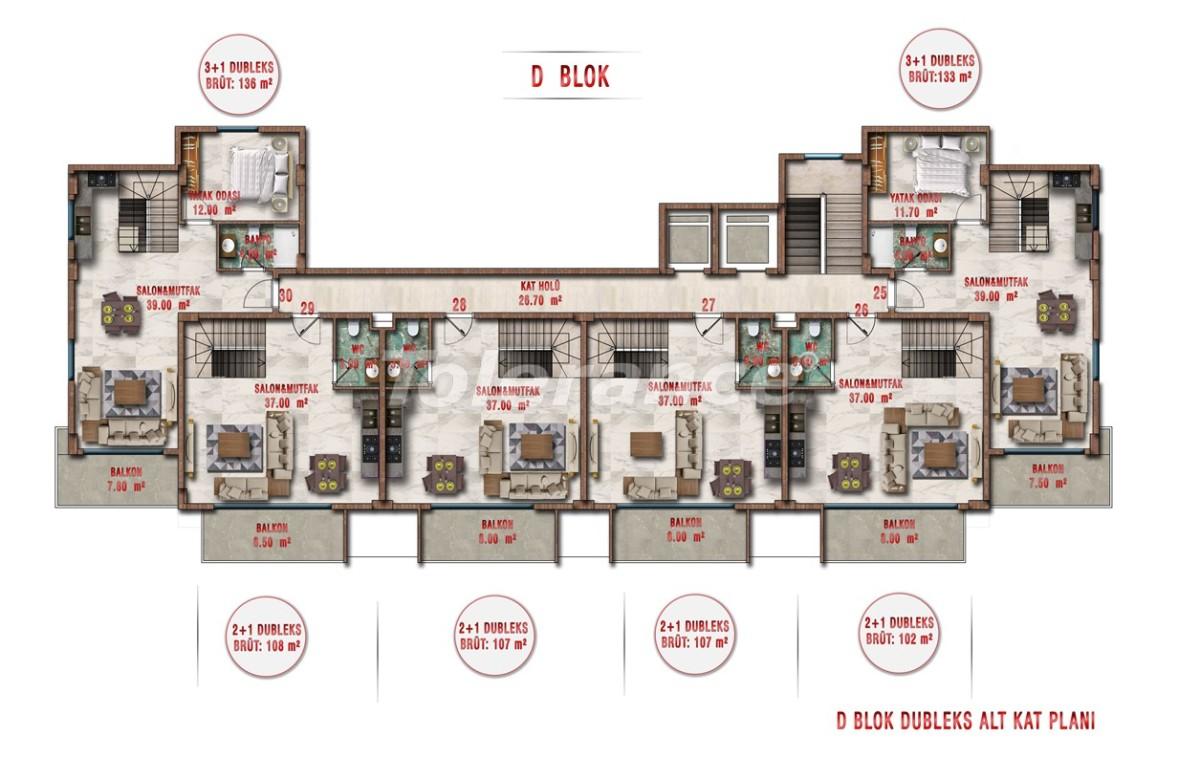 Квартиры в Авсалларе, Алания выгодны для инвестиций с рассрочкой платежа - 40711 | Tolerance Homes