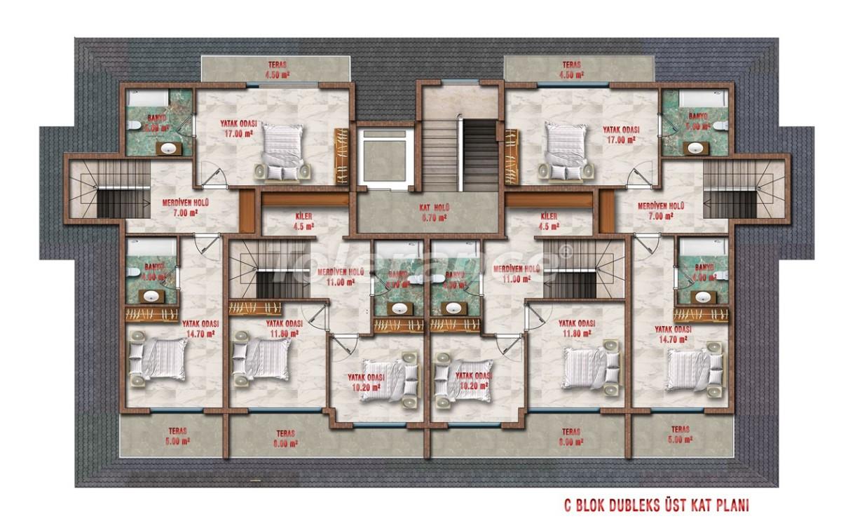 Квартиры в Авсалларе, Алания выгодны для инвестиций с рассрочкой платежа - 40708 | Tolerance Homes