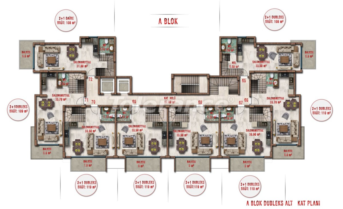 Квартиры в Авсалларе, Алания выгодны для инвестиций с рассрочкой платежа - 40701 | Tolerance Homes