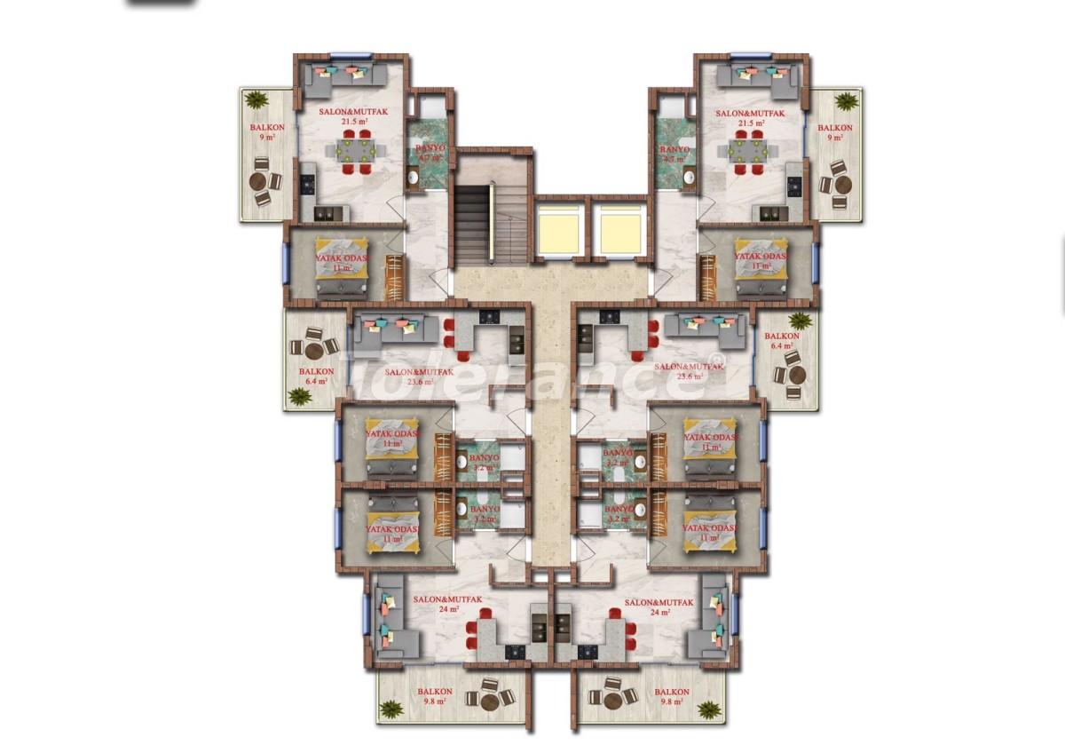 Недорогие двухкомнатные квартиры в Авсалларе, Алания от застройщика - 40729 | Tolerance Homes