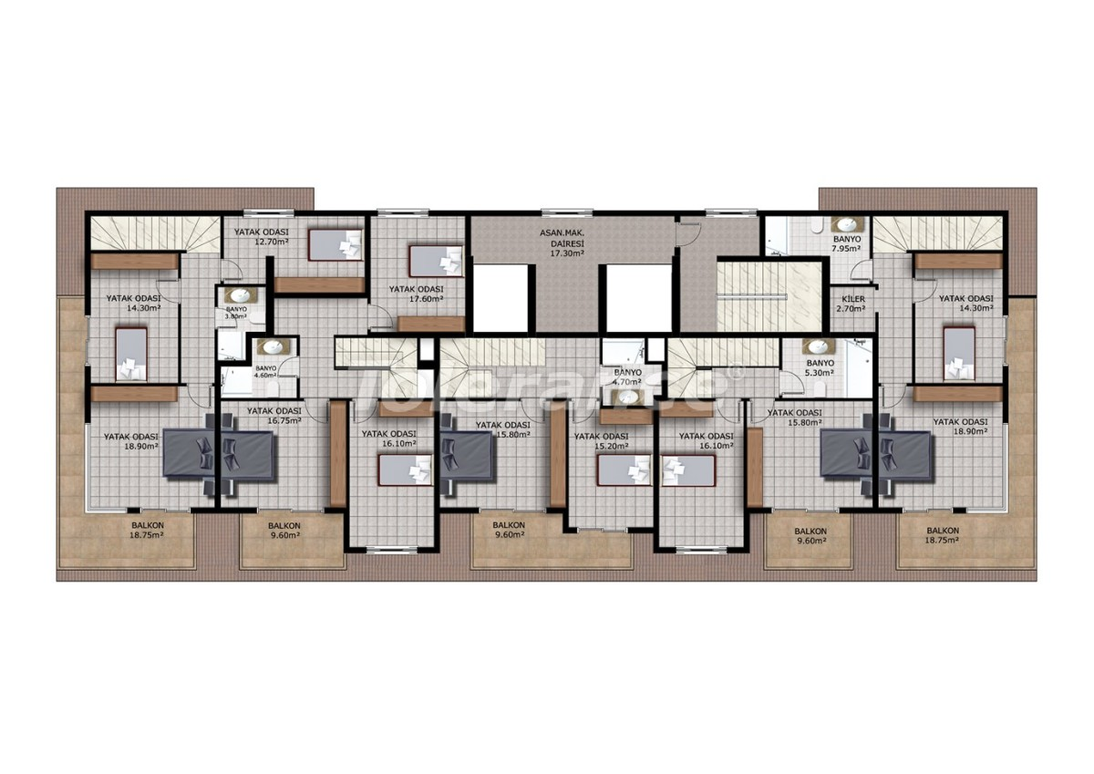 Недорогие апартаменты в Махмутларе, Аланья - 40912   Tolerance Homes