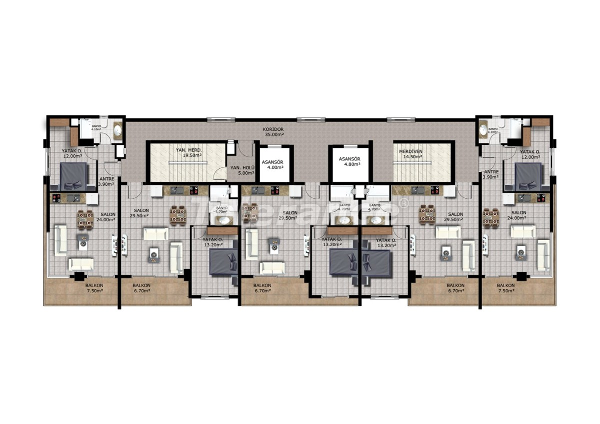 Недорогие апартаменты в Махмутларе, Аланья - 40910   Tolerance Homes