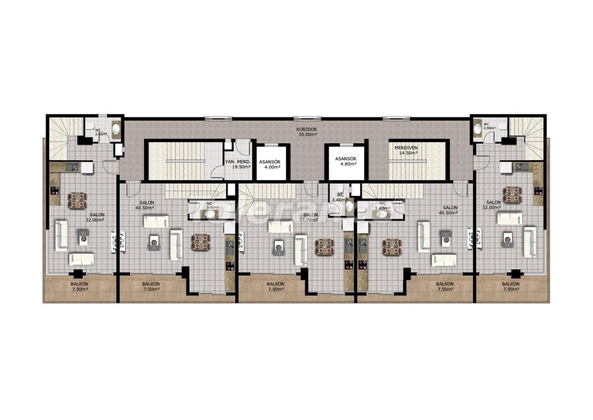 Недорогие апартаменты в Махмутларе, Аланья - 40911   Tolerance Homes