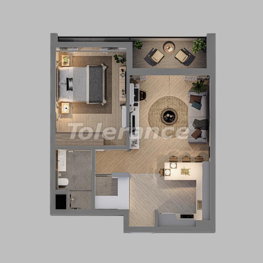 Шикарные просторные квартиры в Алтынташ, Анталия в рассрочку от застройщика - 42174 | Tolerance Homes