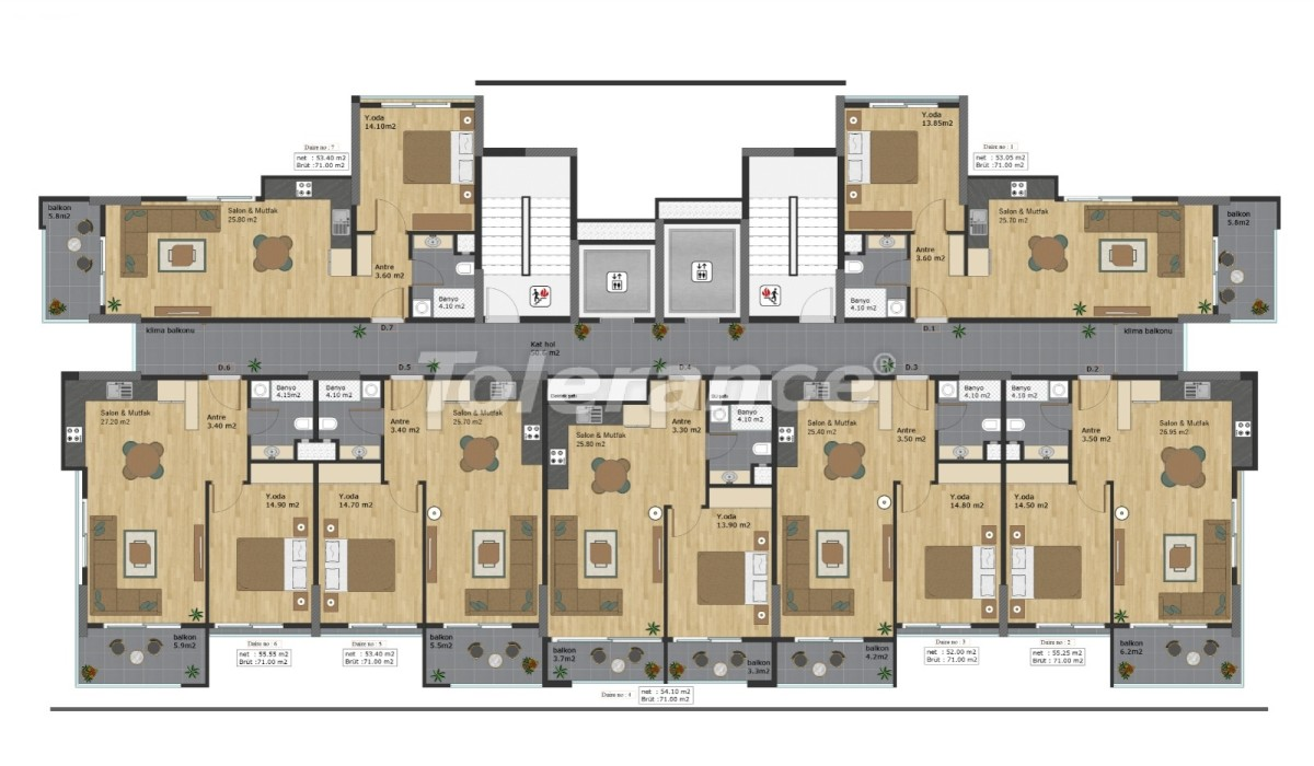 Просторные квартиры в Эрдемли, Мерсин всего в 300 метрах от моря, в рассрочку от застройщика - 42350 | Tolerance Homes