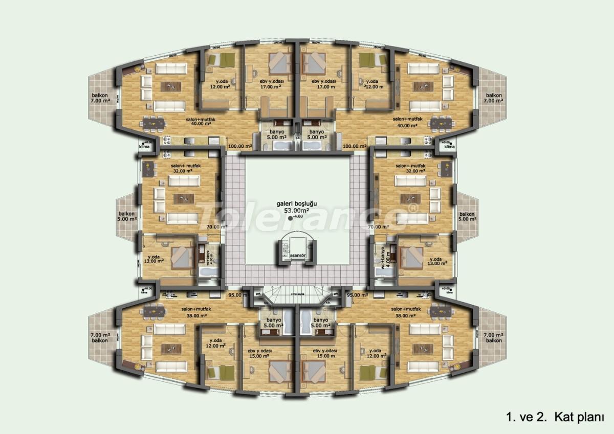 Комплекс апартаментов в Лимане, Коньяалты отельного типа люкс класса с большим бассейном и гарантией аренды - 633 | Tolerance Homes