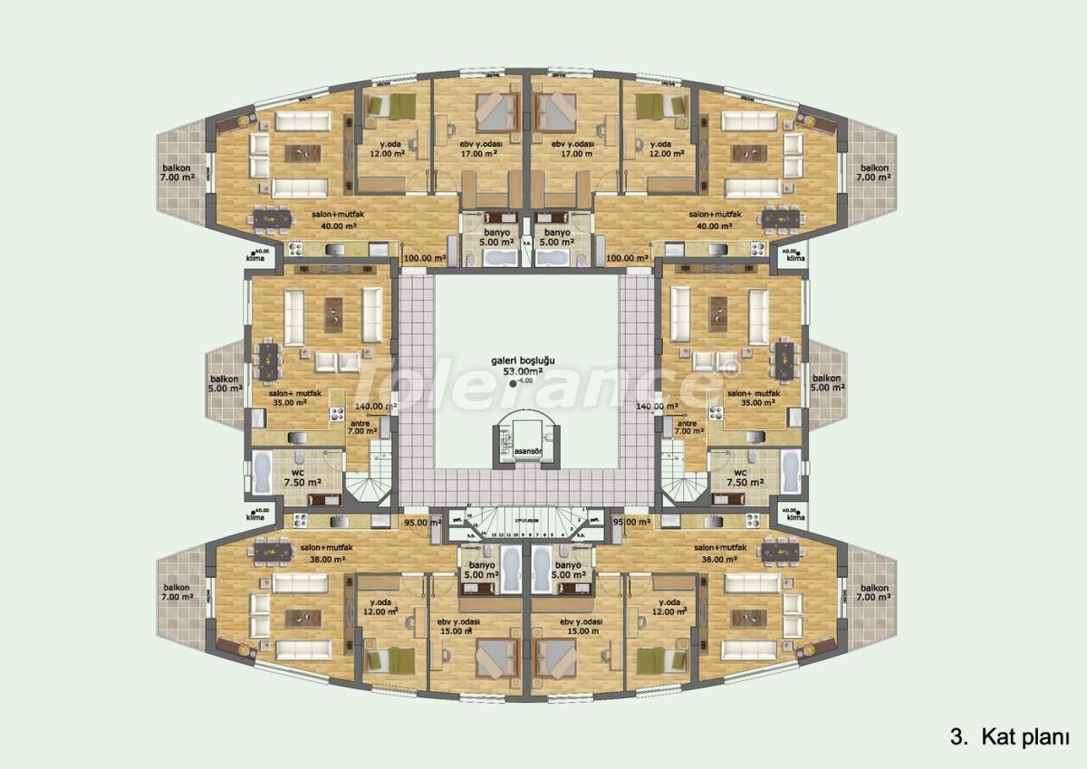 Комплекс апартаментов в Лимане, Коньяалты отельного типа люкс класса с большим бассейном и гарантией аренды - 634 | Tolerance Homes