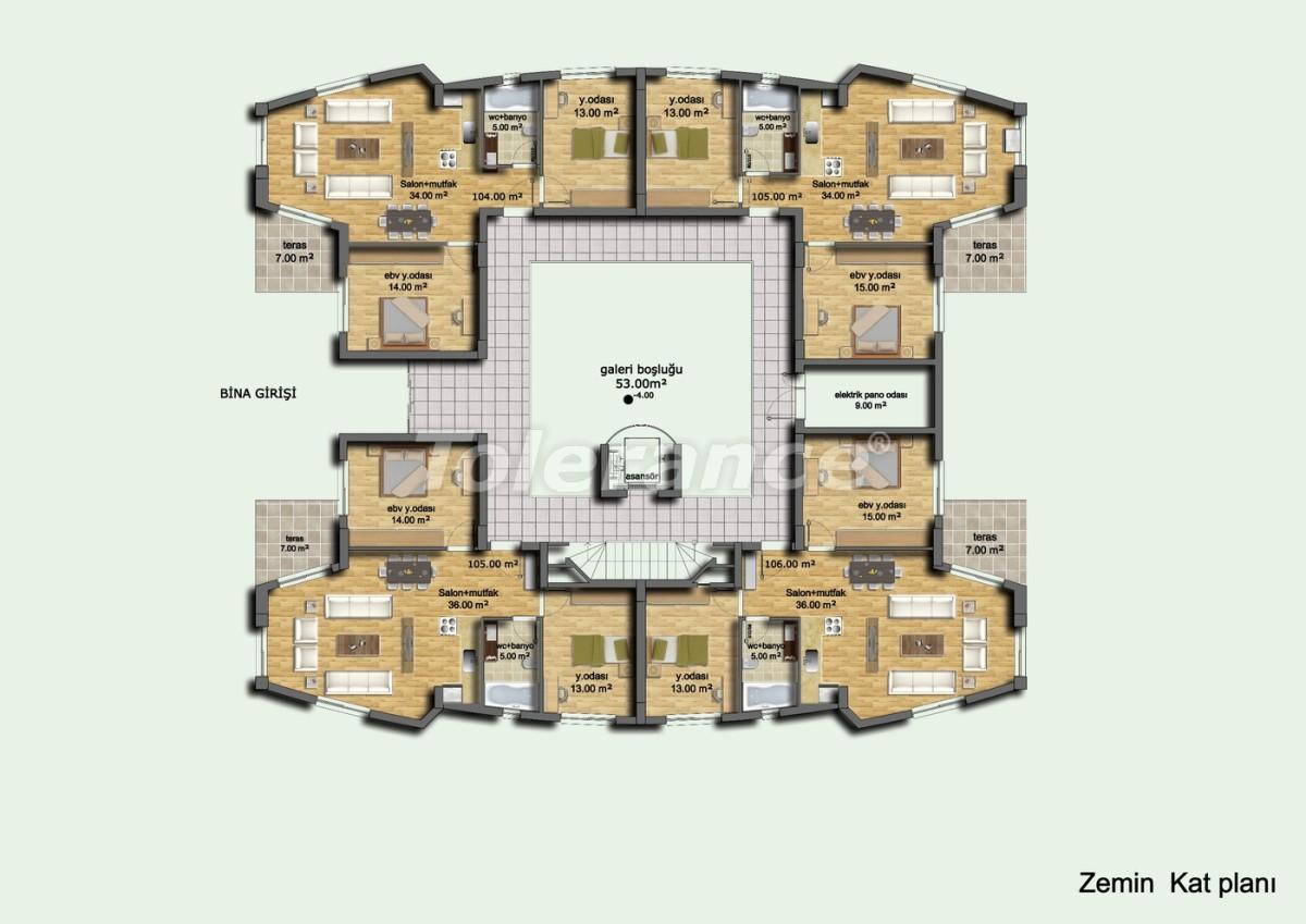 Комплекс апартаментов в Лимане, Коньяалты отельного типа люкс класса с большим бассейном и гарантией аренды - 637 | Tolerance Homes