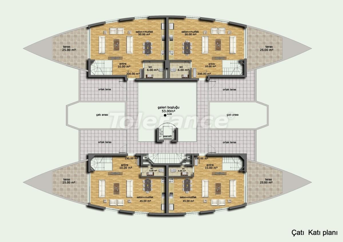 Комплекс апартаментов в Лимане, Коньяалты отельного типа люкс класса с большим бассейном и гарантией аренды - 636 | Tolerance Homes