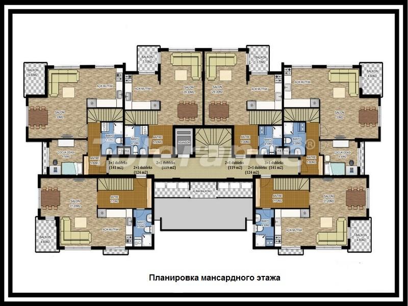 Вторичная трехкомнатная квартира в Лимане, Коньяалты от одного из лучших застройщиков - 673 | Tolerance Homes