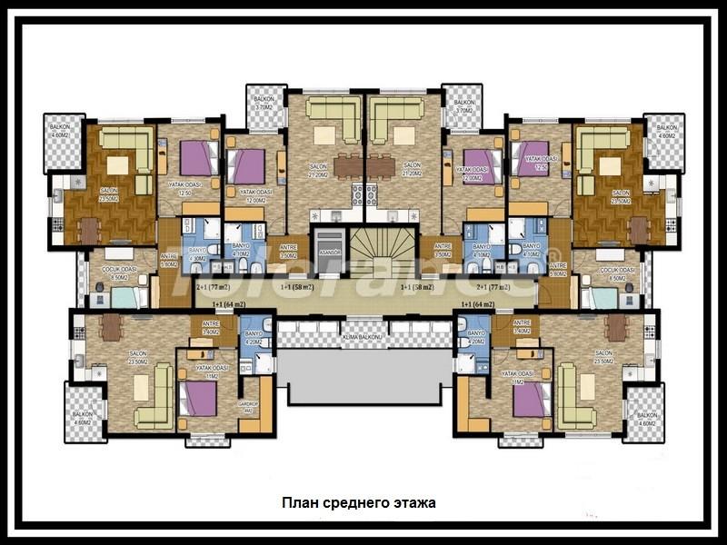 Вторичная трехкомнатная квартира в Лимане, Коньяалты от одного из лучших застройщиков - 672 | Tolerance Homes