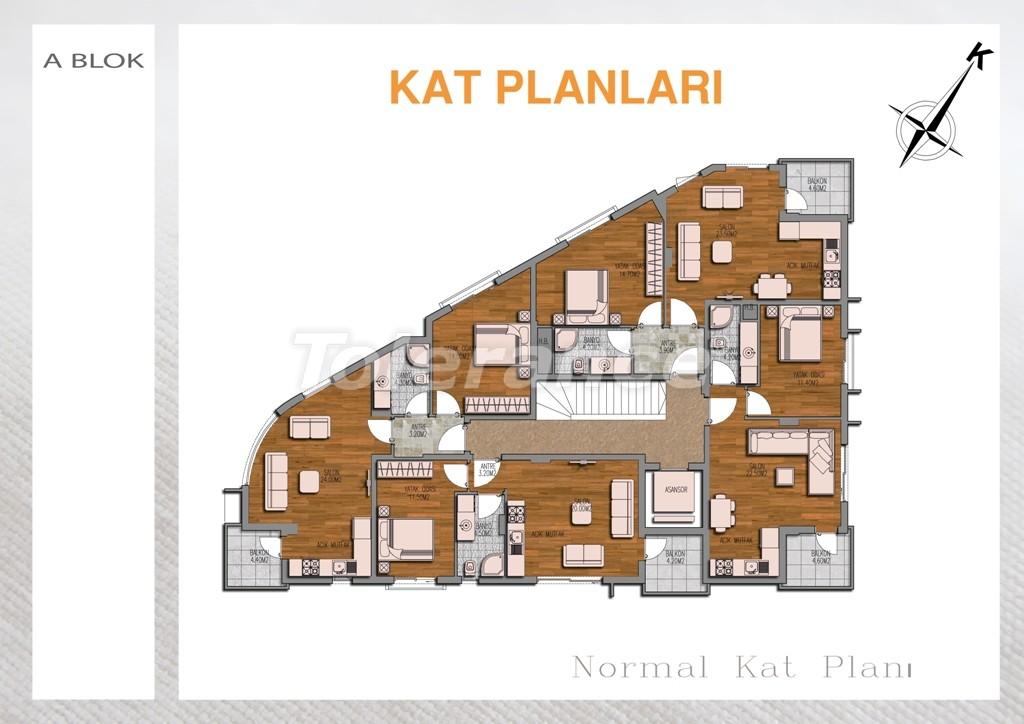 Вторичная двухкомнатная квартира  в Лимане, Коньяалты - 710 | Tolerance Homes