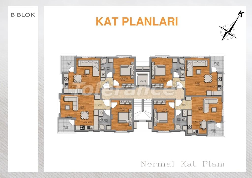 Вторичная двухкомнатная квартира  в Лимане, Коньяалты - 713 | Tolerance Homes
