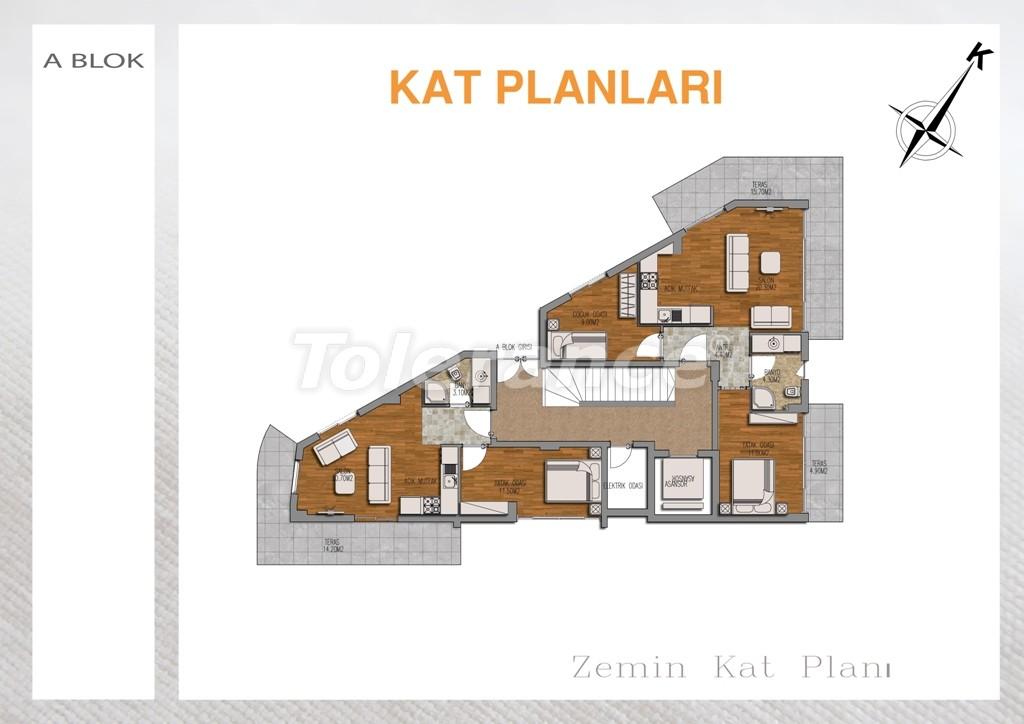 Вторичная двухкомнатная квартира  в Лимане, Коньяалты - 709 | Tolerance Homes