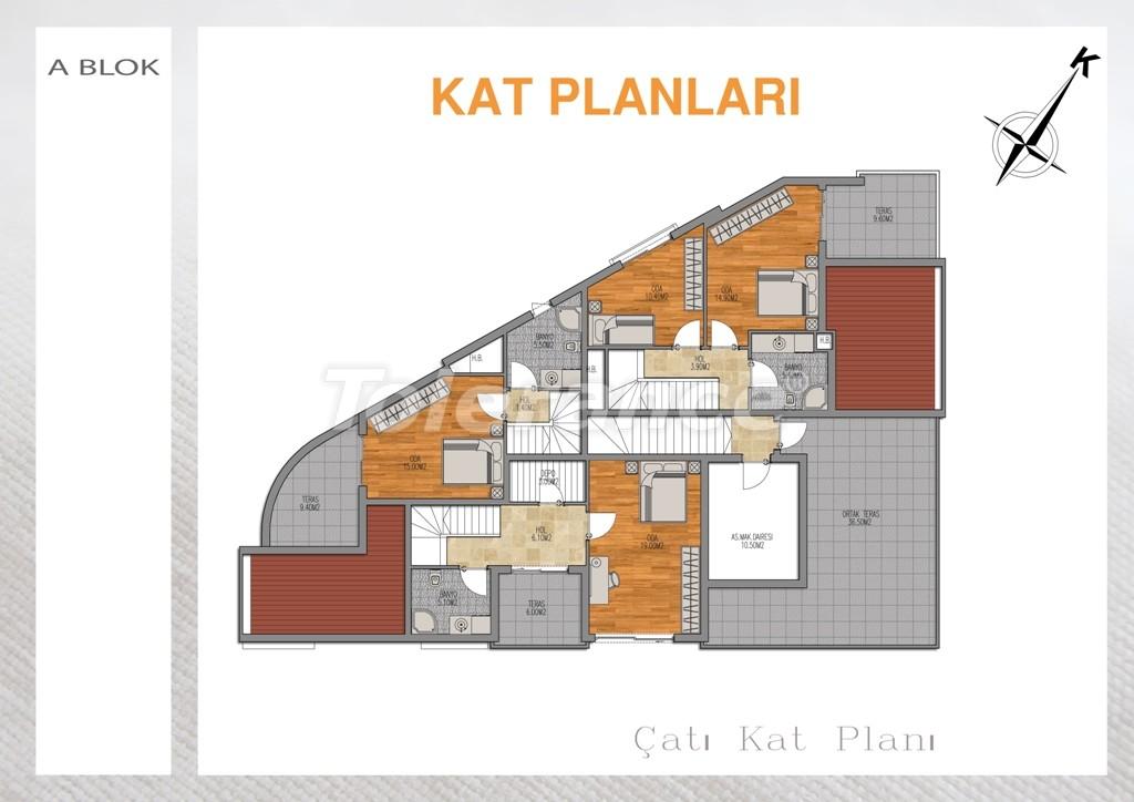 Вторичная двухкомнатная квартира  в Лимане, Коньяалты - 712 | Tolerance Homes