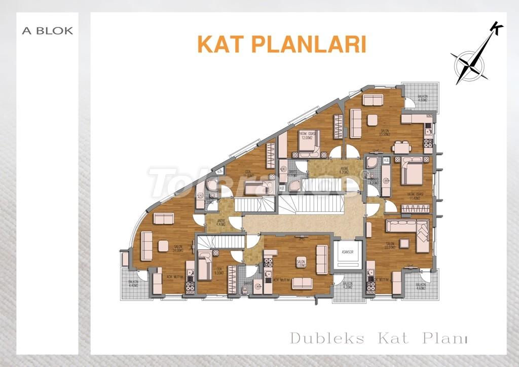 Вторичная двухкомнатная квартира  в Лимане, Коньяалты - 711 | Tolerance Homes
