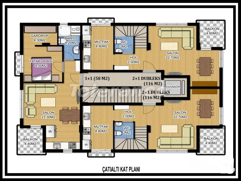 Трехкомнатная квартира в Лимане, Коньяалты рядом с морем - 1123 | Tolerance Homes
