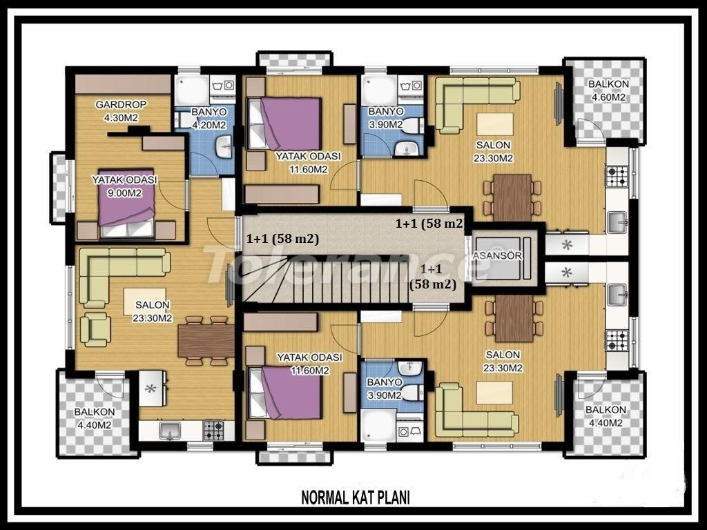 Трехкомнатная квартира в Лимане, Коньяалты рядом с морем - 1124 | Tolerance Homes