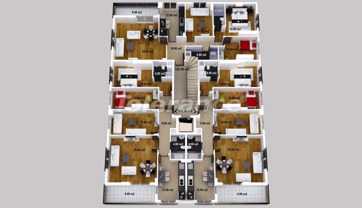 Просторные апартаменты  и магазины в Кепезе, Анталия - 1225 | Tolerance Homes