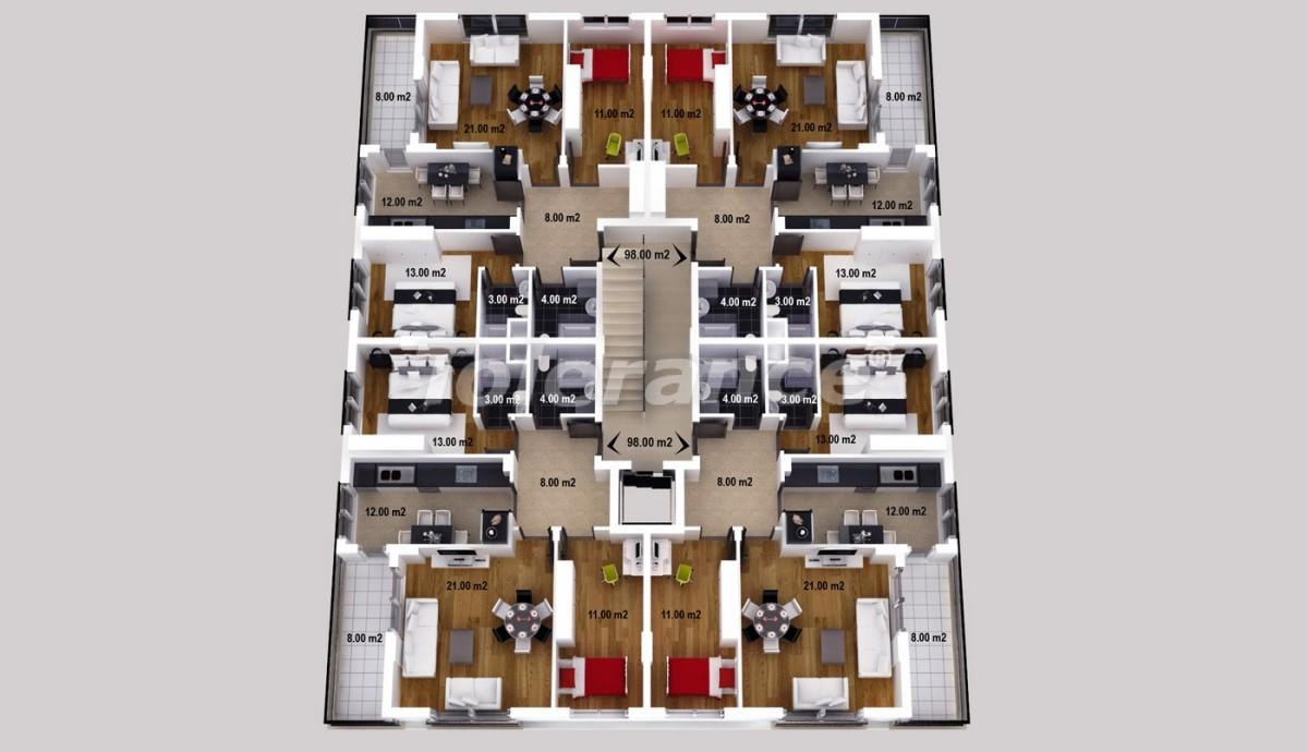 Просторные апартаменты  и магазины в Кепезе, Анталия - 1227 | Tolerance Homes