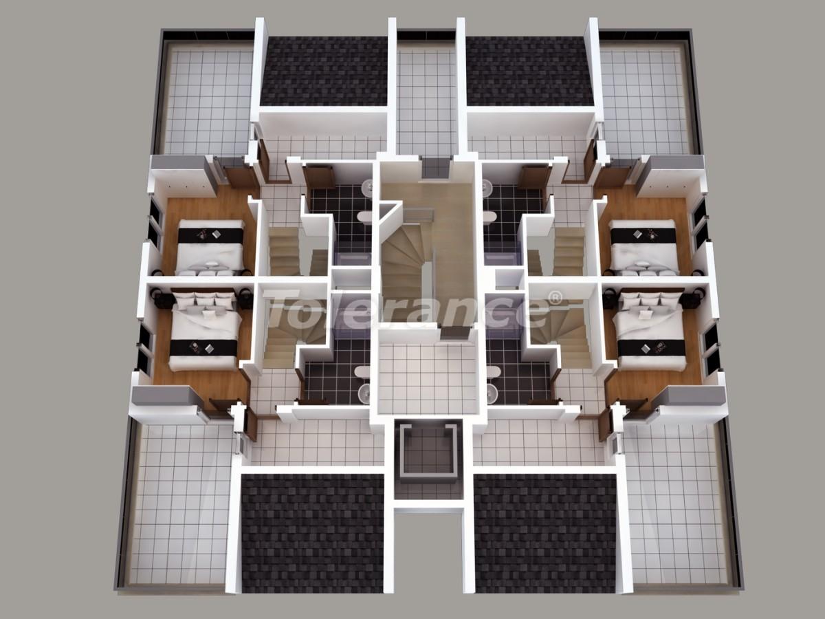 Апартаменты в Хурме, Коньяалты  с установленной системой отопления газом - 1463 | Tolerance Homes