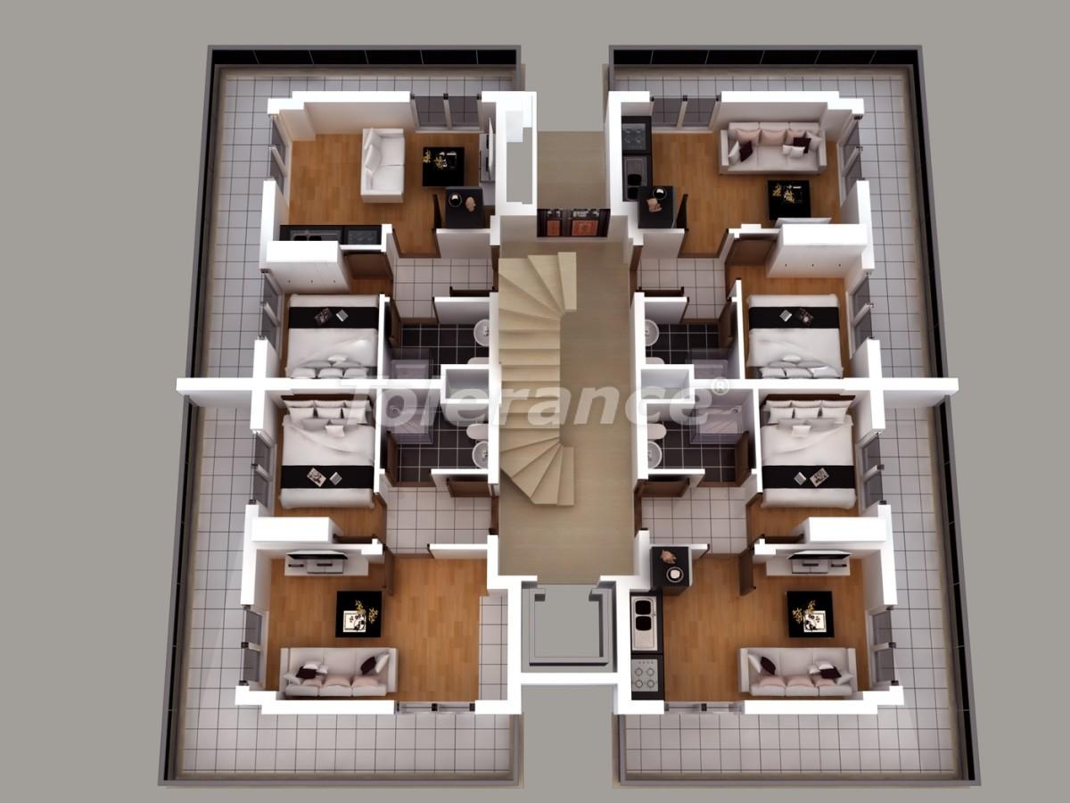 Апартаменты в Хурме, Коньяалты  с установленной системой отопления газом - 1460 | Tolerance Homes