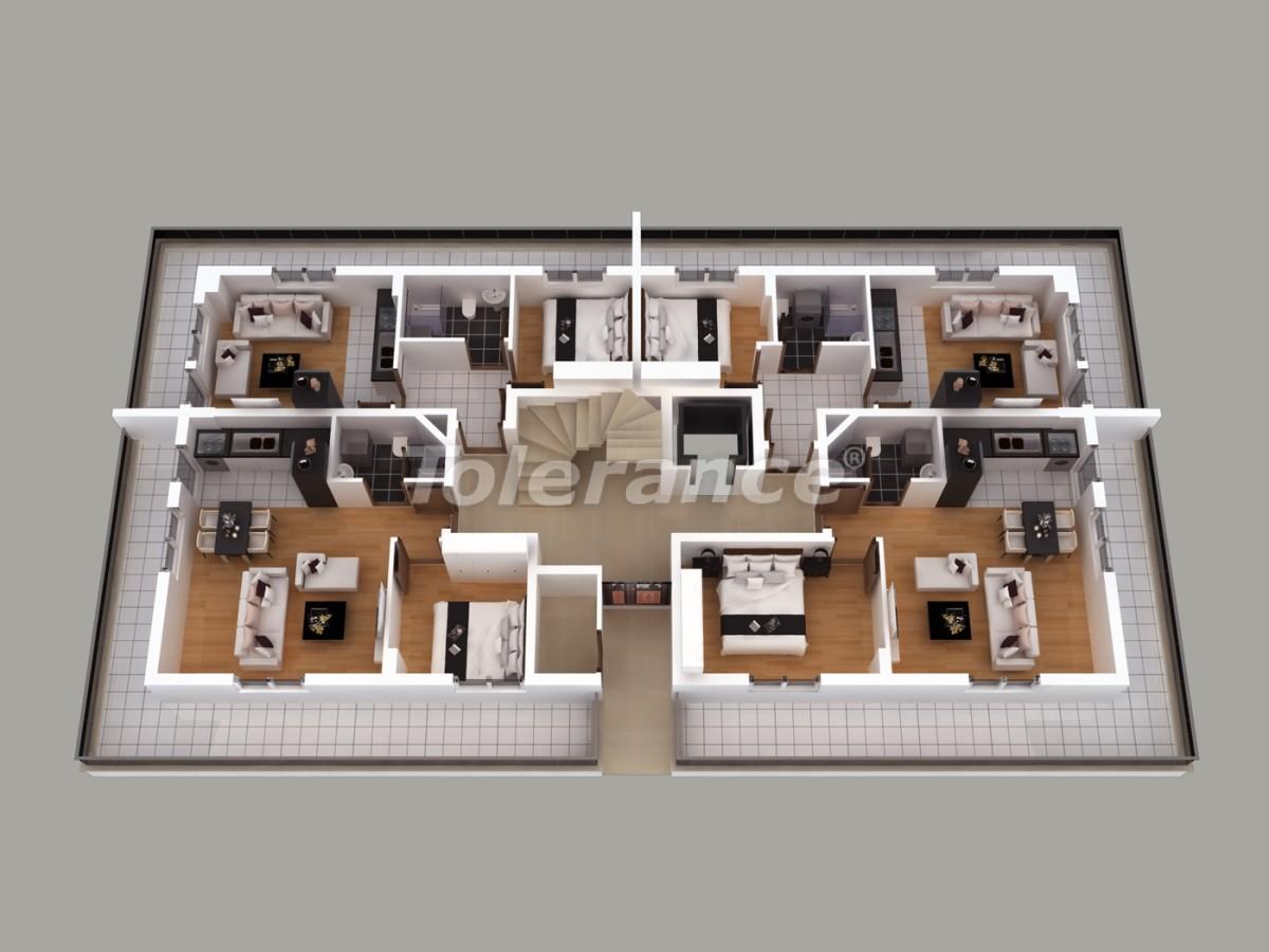 Апартаменты в Хурме, Коньяалты  с установленной системой отопления газом - 1456 | Tolerance Homes