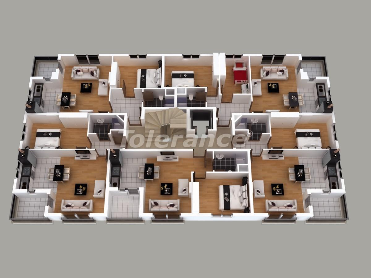 Апартаменты в Хурме, Коньяалты  с установленной системой отопления газом - 1457 | Tolerance Homes