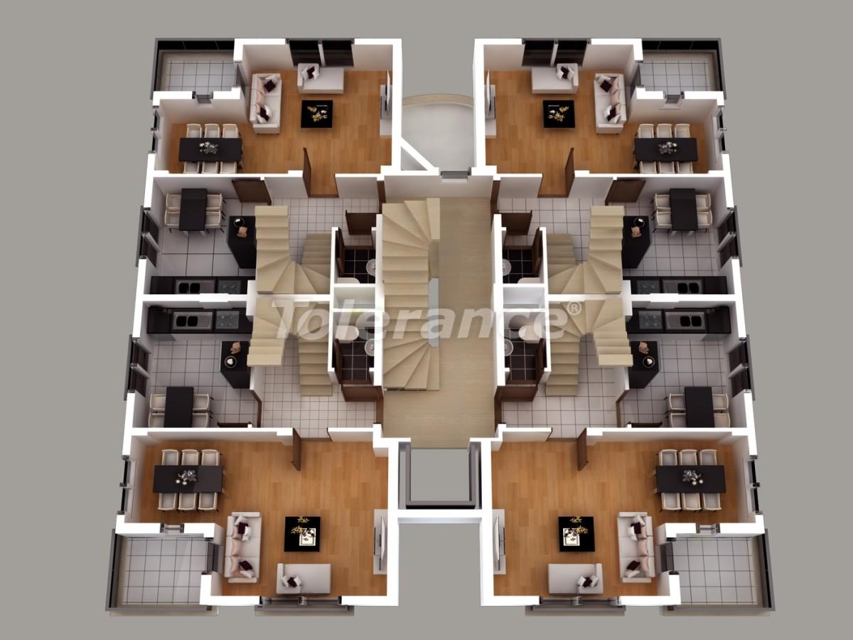 Апартаменты в Хурме, Коньяалты  с установленной системой отопления газом - 1462 | Tolerance Homes