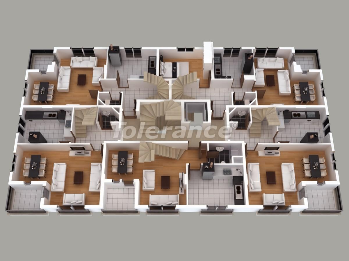 Апартаменты в Хурме, Коньяалты  с установленной системой отопления газом - 1458 | Tolerance Homes