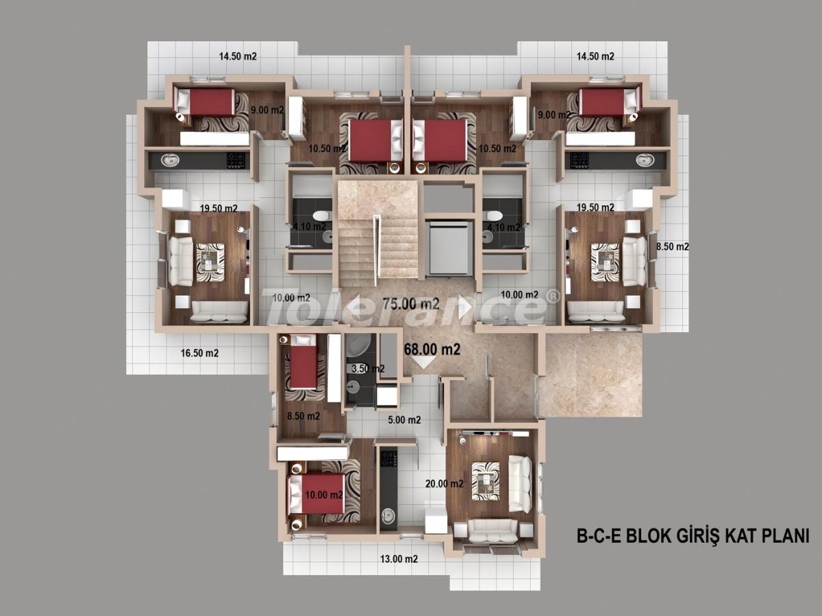 Просторные квартиры в Кепезе, Анталия от одного из лучших застройщиков - 1516 | Tolerance Homes